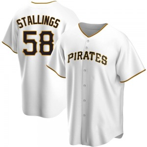 Jacob Stallings Pittsburgh Pirates Youth Replica Home Jersey - White