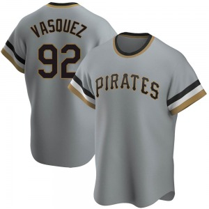 Pedro Vasquez Pittsburgh Pirates Youth Replica Road Cooperstown Collection Jersey - Gray