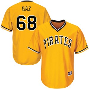 Shane Baz Pittsburgh Pirates Authentic Cool Base Alternate Majestic Jersey - Gold